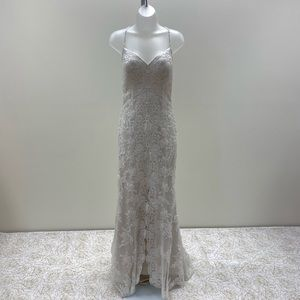 NWT Thin Strap w/ Open Front Slit Wedding Dress